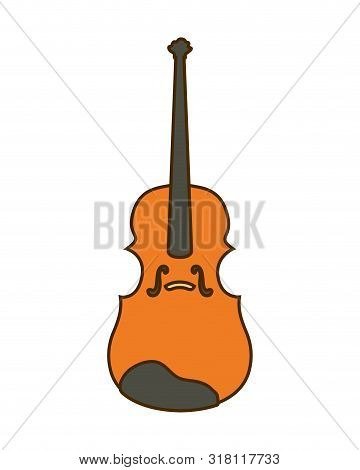 Musical Instrument Fiddle On White Background Vector Illustration Design