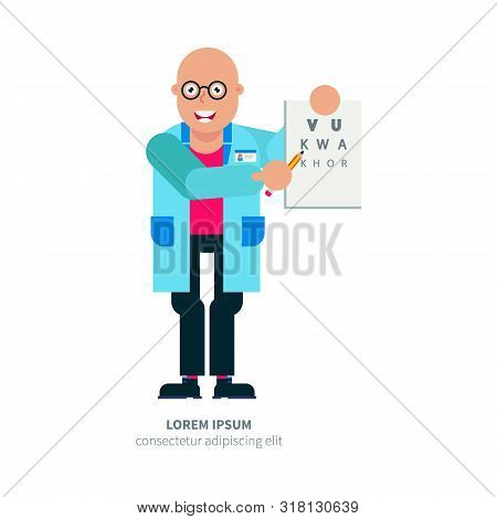 Ophthalmology, Vision Check, Cataract Vector Illustration, Banner