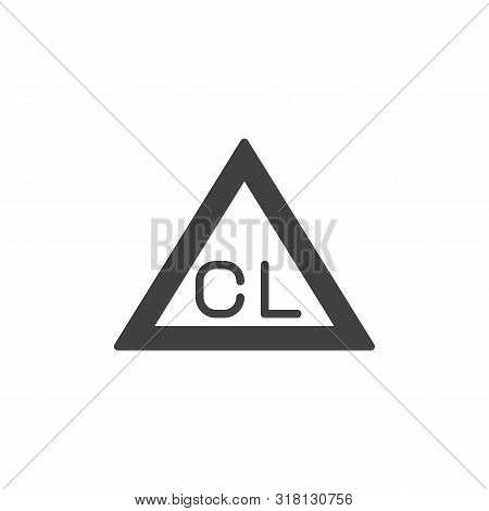 Chlorine Only, Wash Machine Sign Vector Icon. Filled Flat Sign For Mobile Concept And Web Design. On