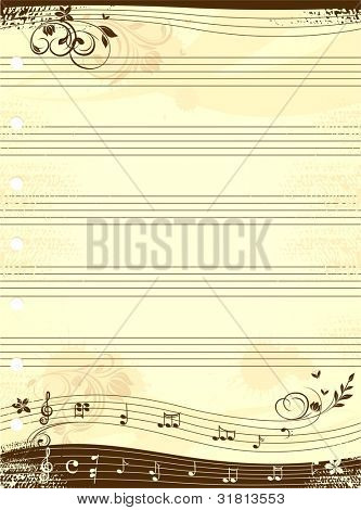 Music notebook template