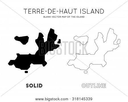 Terre-de-haut Island Map. Blank Vector Map Of The Island. Borders Of Terre-de-haut Island For Your I