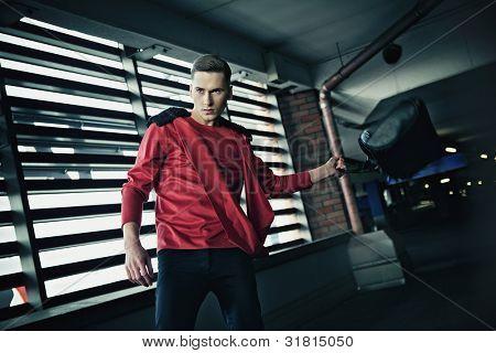 Dynamic photo of a fashionable man