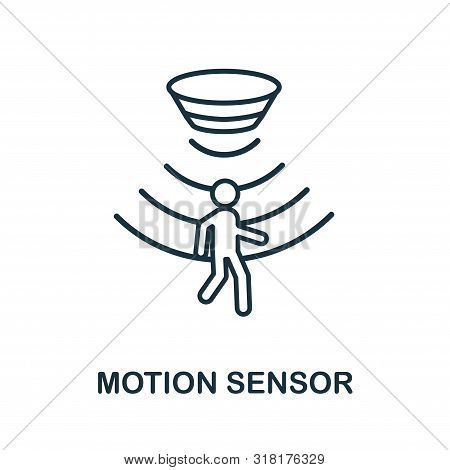 Motion Sensor Outline Icon. Thin Line Style From Sensors Icons Collection. Pixel Perfect Simple Elem