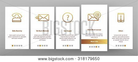 Color Contact Us, Call Center Vector Onboarding Mobile App Page Screen. Customer Support Service, Co