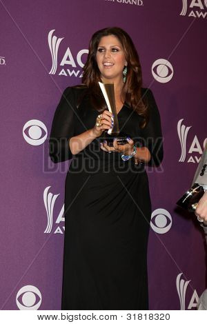 LAS VEGAS - APR 1:  Hillary Scott in the press room  at the 2012 Academy of Country Music Awards at MGM Grand Garden Arena on April 1, 2010 in Las Vegas, NV.