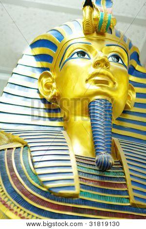 Decor egyptian golden pharaohs mask