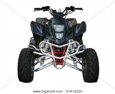 Black Suzuki quad-bike isolated on white
