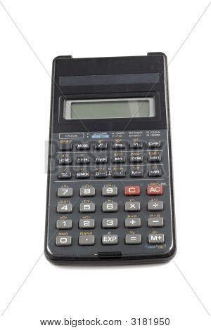 Used Calculator Isolated On White Background