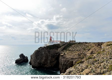 View Of The Lighthouse On Cape San Vicente, Portugal