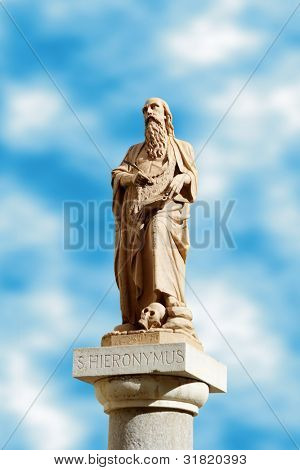 Hieronymus -  founder of a monastery in Bethlehem. The translator of the bible on Latin