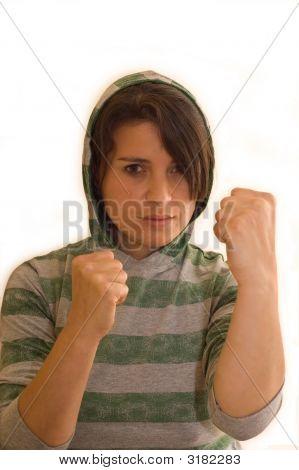 Aggressive Female Thug