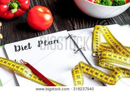 Concept Diet, Slimming Plan With Vegetables Mock Up