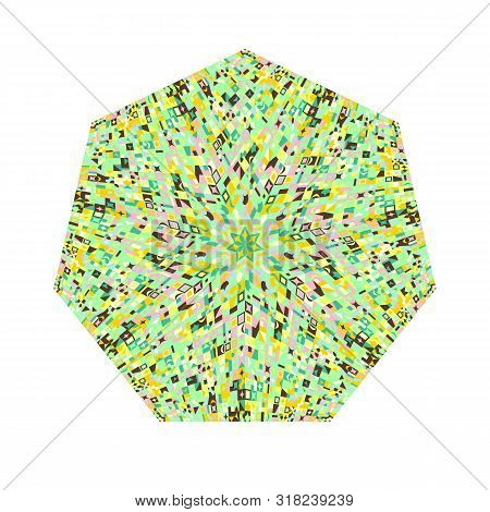 Abstract Mosaic Pattern Heptagon Polygon - Geometrical Colorful Vector Element On White Background