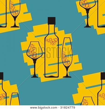 Seamless wineglass background