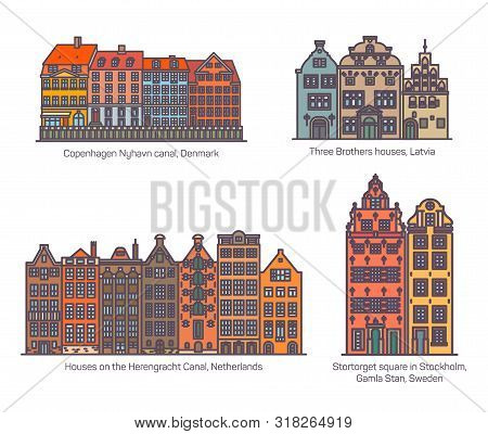 Colorful Buildings On Canal, Square Of Europe