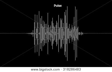 Graph Of Pulsation Made Of Lines. Design Element For Music, Sound, Signal Illustration