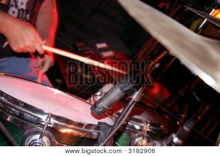 Close Up Drummer Playiing