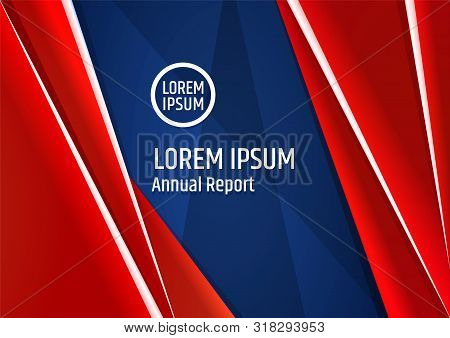 Blue White Red Corporate Template Design For Brochure Cover Or Presentation For Government Or Busine
