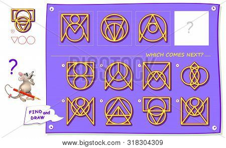 Logic Puzzle Game For Children And Adults. What Sign Should Replace Question Mark? Which One Comes N