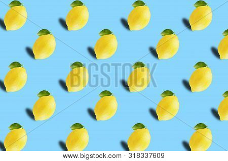Fruit Pattern Of Fresh Citrius Fruits Background