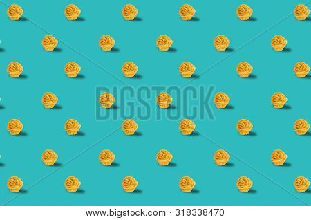Trendy Pattern Done With Raw Pasta Background