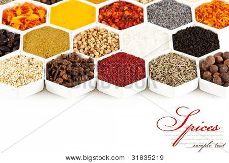collection of spices
