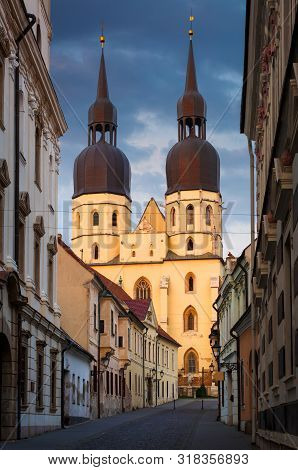 Basilica Of St Nicholas In The Old Town Of Trnava, Slovakia.