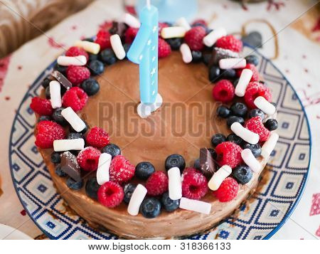 Awe Inspiring Cake First Anniversary Image Photo Free Trial Bigstock Funny Birthday Cards Online Overcheapnameinfo