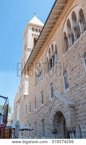 Jerusalim Church Architecture Holy Place. Israel Stock Photo