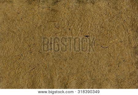 Dark  Brown Handmade Paper With Texture  Background