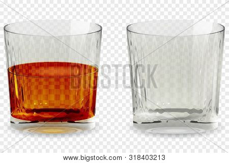 Whiskey Snifter Glass Transparent Icon Vector Illustration