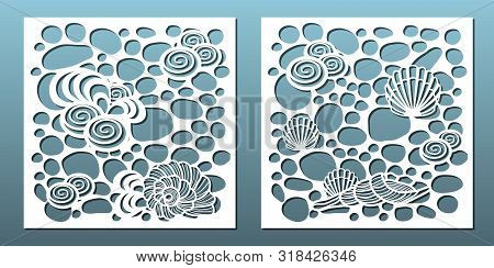 Laser Cut Panels Set. Template For Metal Cutting Or Wood Carving ,stencil For Fretwork, Paper Art, C