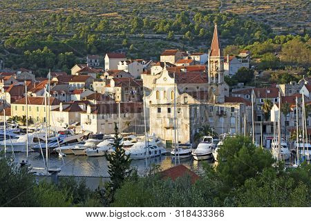 View Of Beautiful Milna Port On Sunny Summer Day, Brac Island, Croatia