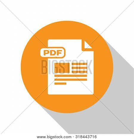 White Pdf File Document. Download Pdf Button Icon Isolated On White Background. Pdf File Symbol. Ora