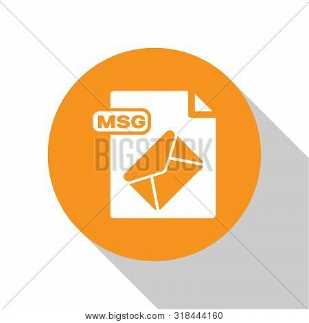 White Msg File Document. Download Msg Button Icon Isolated On White Background. Msg File Symbol. Ora
