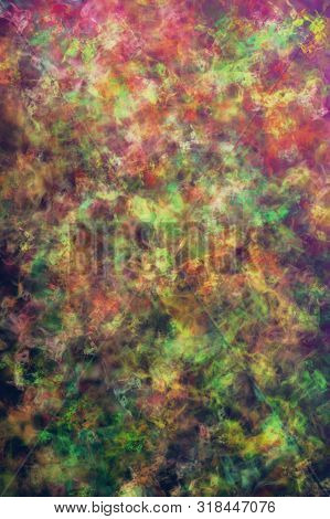 Smoky Multicolored Defocused Pattern Wallpaper. Abstract Blurred Background.