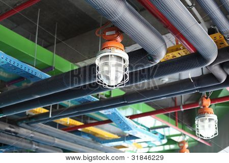 Ceiling of modern plant