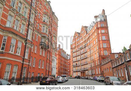 London England - June 3, 2019: South Kensington Apartment Cityscape London Uk