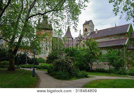 Vajdahunyad Castle (vajdahunyad Vara) Is Castle In City Park Of Budapest, Hungary