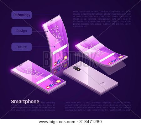 Innovative Foldable Gadgets Screens Keyboards Compact For Storage Great For Travel Isometric Smartph