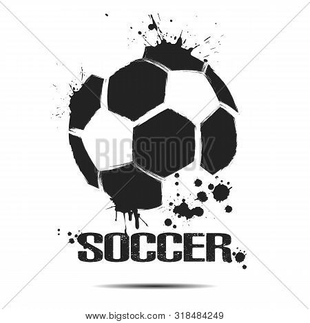 Soccer Ball Icon. Abstract Soccer Ball For Design Logo, Emblem, Label, Banner. Football Template On
