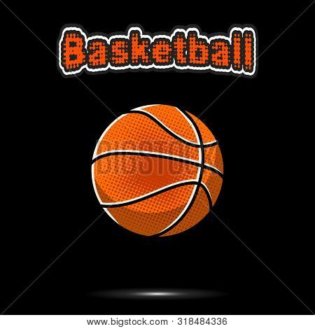 Basketball  Ball Icon. Vintage Basketball  Ball For Design Logo, Emblem, Label, Banner. Basketball
