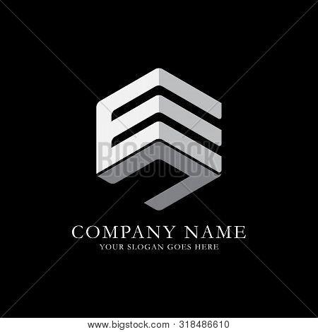 En Initial Letter Logo Inspiration, E And N Combination Logo Vector With Hexagonal Idea