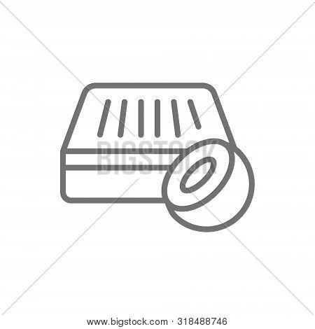 Orthopedic Coconut Coir Mattress, Natural Mattress Line Icon.