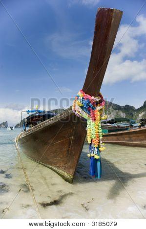 Longtail Boat At Koh Phi Phi