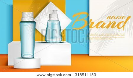 Cosmetic Bottles On Vector Photo Free Trial Bigstock