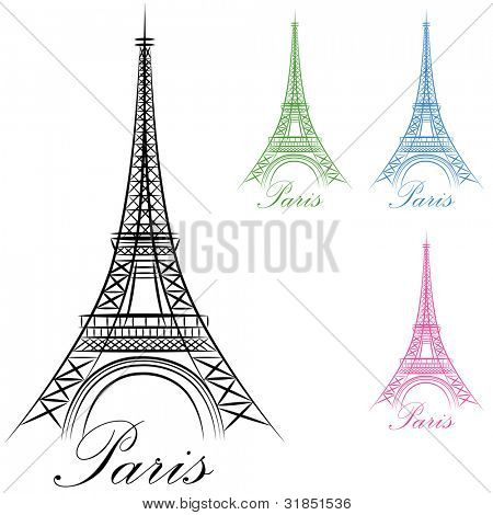 An image of a Paris Eiffel Tower Icon.
