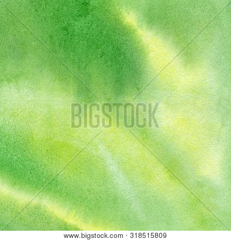 Green Abstract Watercolor Texture Background. Sweet Pastel. Gradient Background Colorful Paint Like