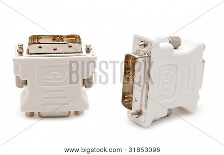 Cable adapter. Isolated on white background