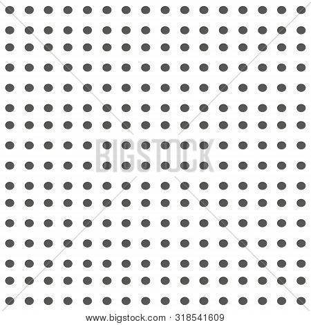 Seamless Background With Small Polka Dot Pattern. Polka Dot Fabric. Retro Vector Background Or Patte